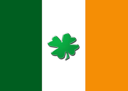 Irish shamrock flag by Christopher Rowlands