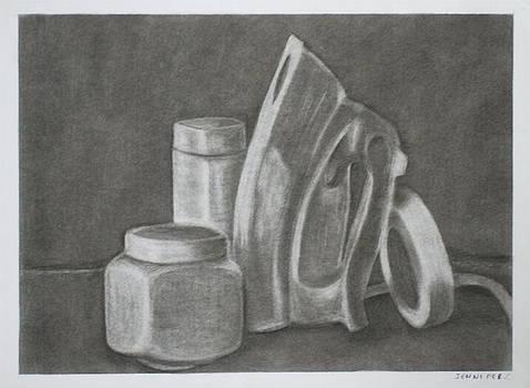 Iron Tape Jars Still Life by Jennifer Christenson