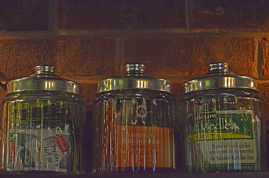 Jars of Assorted Teas by Sandi OReilly