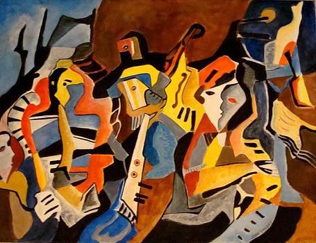 Jazz on Bourbon Street by Joan Landry