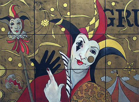 Susanne Clark - Jester in Red