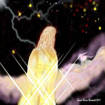 Jesus n His White Horse by Spirit Dove  Durand
