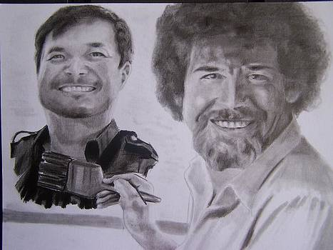 Jim Lee and Bob Ross by Luis Carlos A