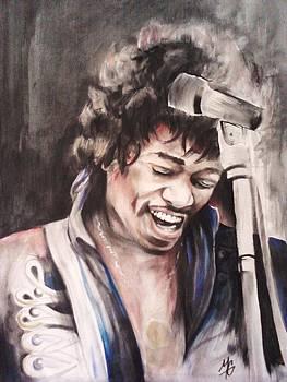 Jimi Hendrix by Morgan Greganti