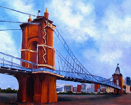 John A. Roebling Bridge by Suzzanna Frank