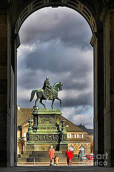 Christine Till - John of Saxony Monument - Dresden Theatre Square