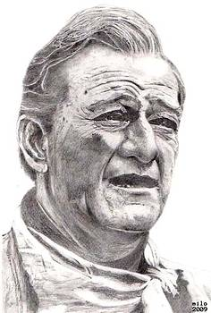 John Wayne by Milo Marx