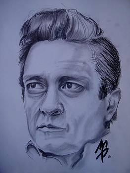 Johnny Cash by Morgan Greganti