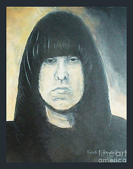 Johnny Ramone The Ramones Portrait by Kristi L Randall