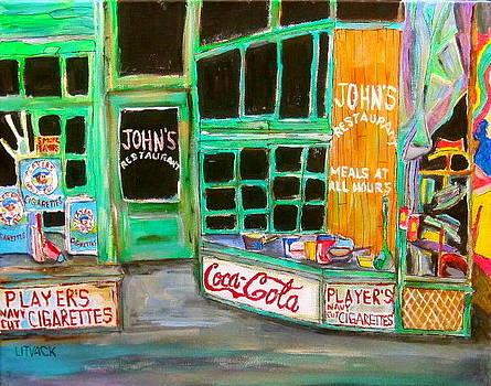 John's Restaurant by Michael Litvack