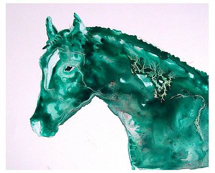 Joker - study in green by Sue Prideaux