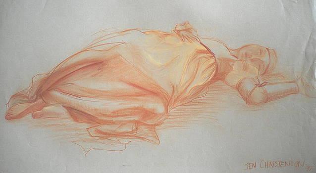 Juliette Laying Down by Jennifer Christenson