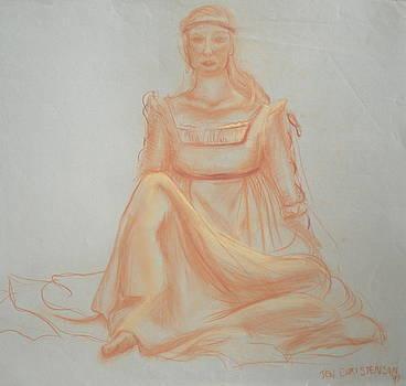 Juliette Sitting by Jennifer Christenson