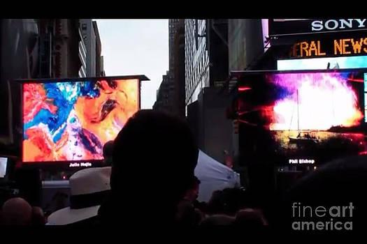 Julio Mejia Art displayed at Time Square by Julio Mejia
