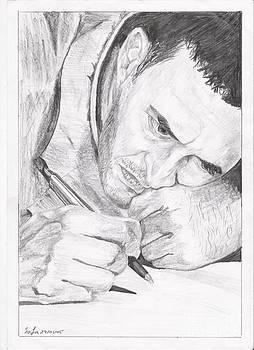 Kadim Al Sahir Portrait by Safa Al-Rubaye