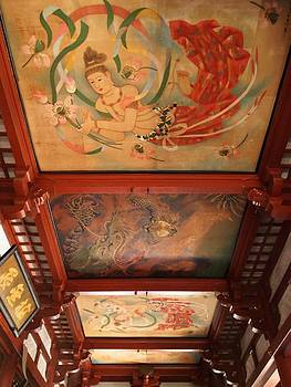 Kannon Temple Ceiling by Guillaume Rodrigue