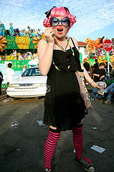Kat at Mardi Gras number two by Amy Savell