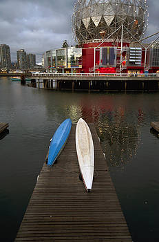 Kayaks and Vancouver Science Centre by Marlene Ford