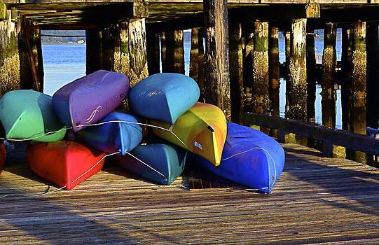 Kayaks at Sunrise by Anna Bree