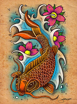 Koi Fish by Julie Oakes