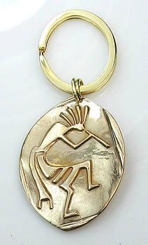 Kokopelli Key Ring for a Man by Virginia Vivier