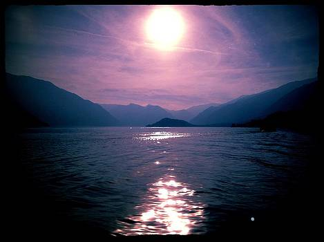 Lake Como Sunset by Shelley Smith