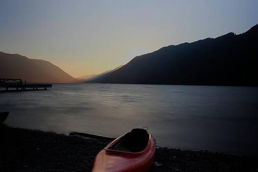 Lake Crescent - Sail away in the setting sun by Nilanjan Chaks