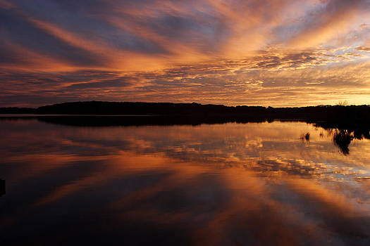 Noel Elliot - Lake Reflections at Sunset