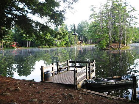 lake Vanare dock by Lali Partsvania