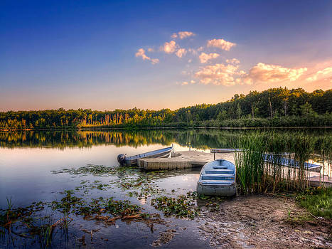 Lake View Row Boat by Jenny Ellen Photography