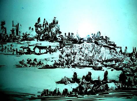 Landscape Sketch 2 by Hema Rana