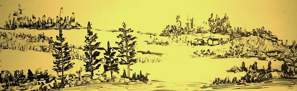 Landscape Sketch by Hema Rana
