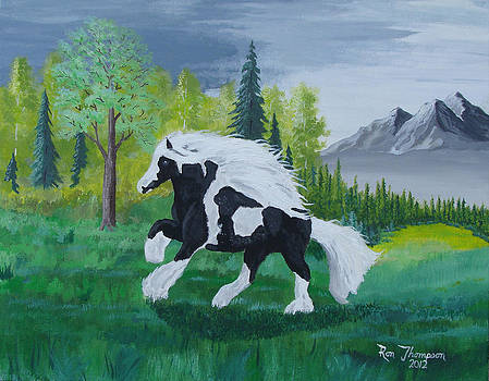 Large Wild Horse by Ron Thompson