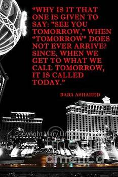 Las Vegas Lights and Words of Wisdom by Mary Lindsay
