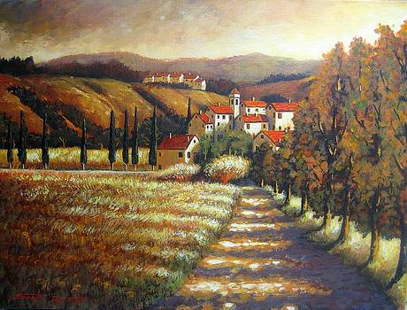 Late summer afternoon in Tuscany by Santo De Vita