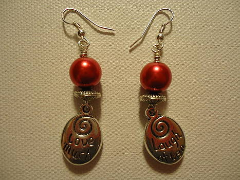 Laugh Often Love Much Red Earrings by Jenna Green
