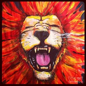 Laughing Lion by Jeffrey Kyker