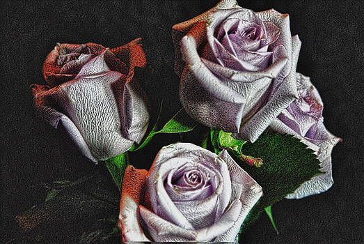 Cindy Boyd - Lavender Rose Bouquet Art