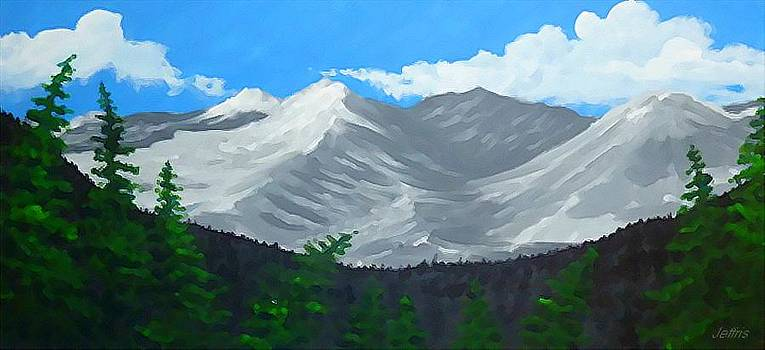 Leavenworth Mountains by Jennifer Jeffris
