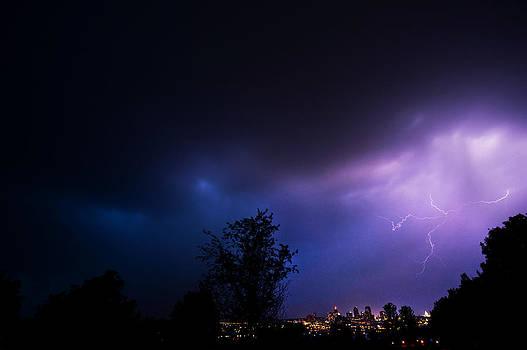Lightning over St Paul by Jennifer Brindley