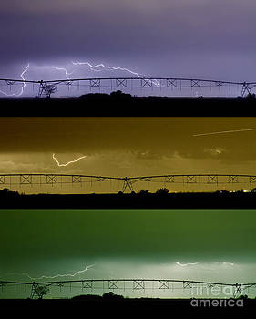 James BO  Insogna - Lightning Warhol  Abstract