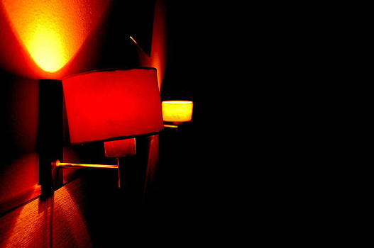 Lights by Blue Curtain