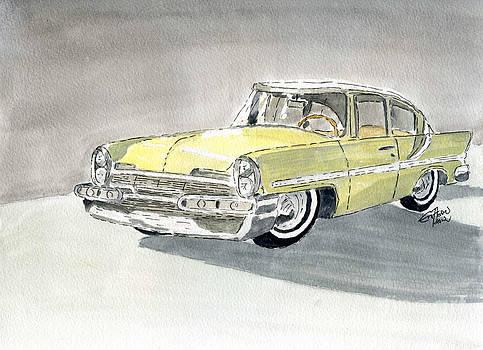 Lincoln Capri 1957 by Eva Ason