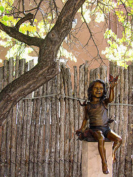 Elizabeth Rose - Little Girl Sculpture on Canyon Road