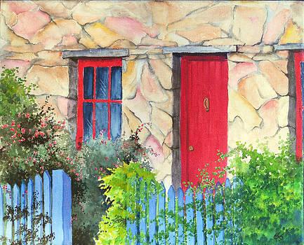 Little Tassie Red Door by Carol McLagan