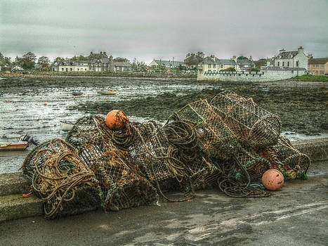 Cindy Nunn - Lobster Traps at Isle of Whithorn