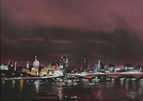 Paul Mitchell - London Night Skyline 1