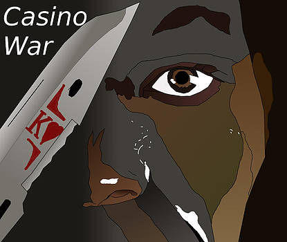 Lone Soldier Casino War Propaganda by Casino Artist