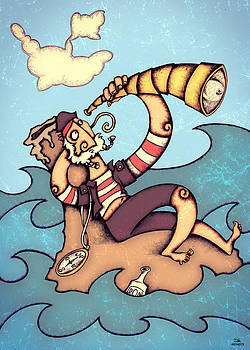 Lonely Pirate by Autogiro Illustration