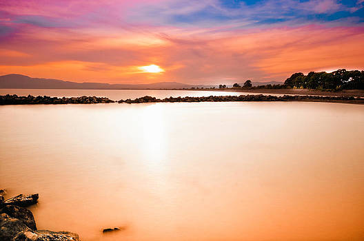 Long exposure sunset by Stavros Argyropoulos